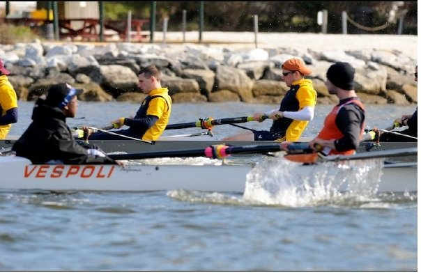 One of my first races, against a crew from the Naval Academy at Annapolis.